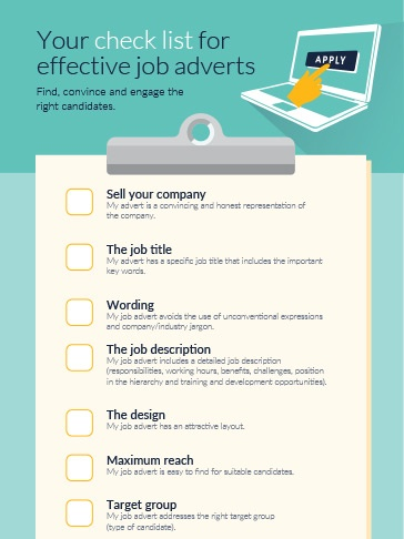 Your check list for effective job adverts